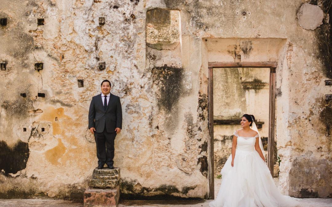 Mejores Fotos de Ale + Fausto Boda Destino Internacional . Mexico – Merida Yucatan